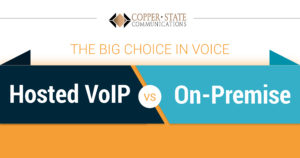 [Infographic] The Big Choice In Voice: Hosted VoIP vs. On-Premise